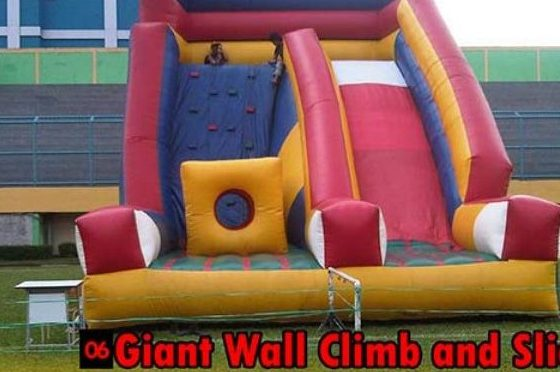 Giant Wall Climb & Slide